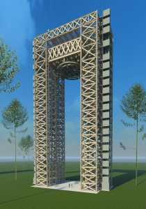NASA Test Stand Rendering