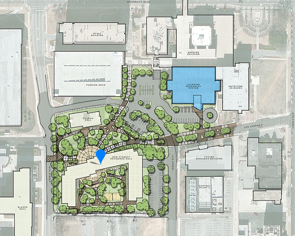 UAB Residence Hall Site Plan pinpoint web