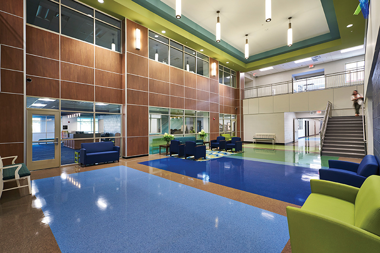 Mill Creek Elementary+Middle School Lobby + Admin