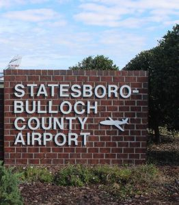 Statesboro Bulloch County Airport Georgia sign