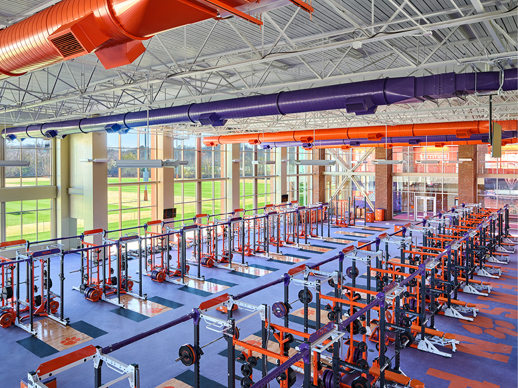 Clemson FB Ops Weight Room web