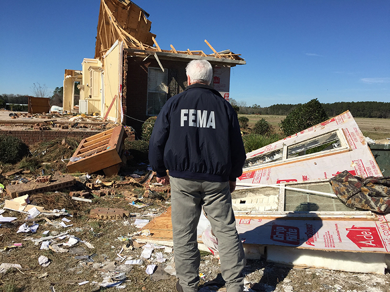 ALBANY, Ga. - FEMA Disaster Survivor Assistance teams are visiting Dougherty County homes damaged by January 2, 2017 tornadoes and severe storms. The teams are providing information to survivors about FEMA assistance.