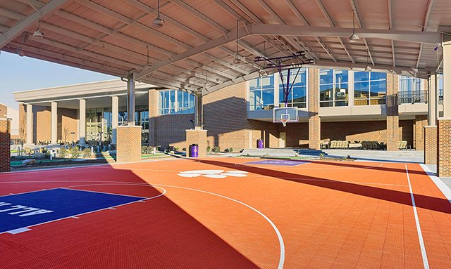 Clemson Football bball court