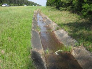 Concrete lined ditches DOlive Bay Watershed